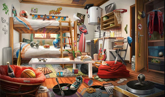 Dorm Room in Criminal Case