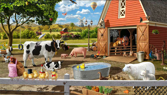 Spring on the Farm in Gardens of Time