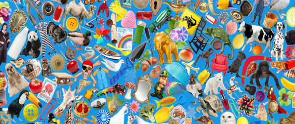 Mosaic Medley - Enjoy a new twist on the hidden object game in a free Facebook game.
