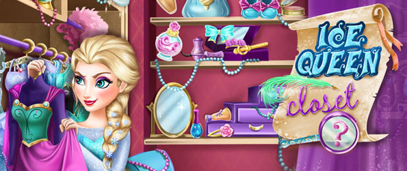 Ice Queen Closet - Help Queen Elsa find her specific needs to pull off her fashion in this simple hidden object game designed for little kids to play!